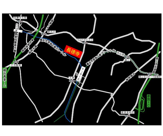 長徳寺「観照堂」アクセス地図